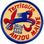 Patches Scouts anjou-maine