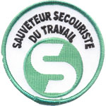 Patches sauveteur secouriste du travai